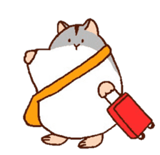 Very cute hamster stickers sticker #10033979