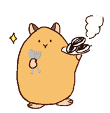 Very cute hamster stickers sticker #10033981