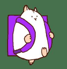 Very cute hamster stickers sticker #10033989