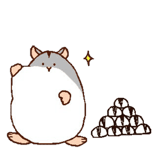 Very cute hamster stickers sticker #10033994