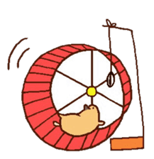 Very cute hamster stickers sticker #10033996