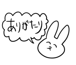 """Rabbit said, """" For the moment ."""" sticker #10036808"""