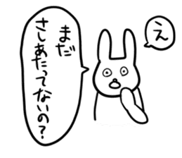 """Rabbit said, """" For the moment ."""" sticker #10036815"""
