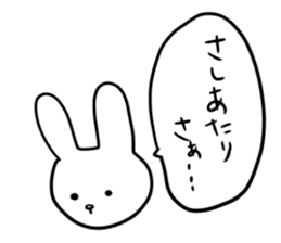 """Rabbit said, """" For the moment ."""" sticker #10036831"""