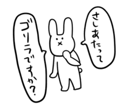 """Rabbit said, """" For the moment ."""" sticker #10036834"""