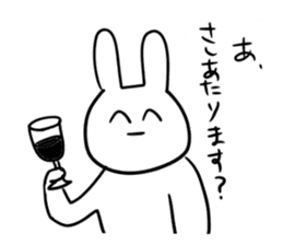 """Rabbit said, """" For the moment ."""" sticker #10036835"""