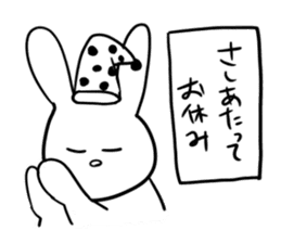 """Rabbit said, """" For the moment ."""" sticker #10036836"""