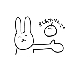 """Rabbit said, """" For the moment ."""" sticker #10036846"""