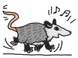 Death Manet skillful Opossum. sticker #10053900