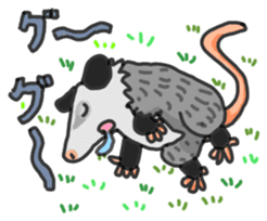 Death Manet skillful Opossum. sticker #10053901