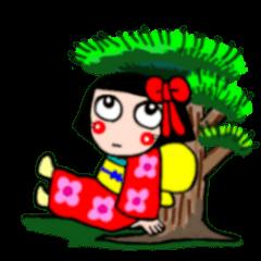 The girl who likes a kimono