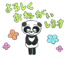 colored pencil panda. sticker #10076873