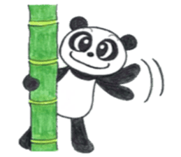 colored pencil panda. sticker #10076874