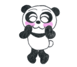 colored pencil panda. sticker #10076879