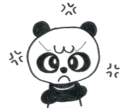 colored pencil panda. sticker #10076894