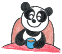 colored pencil panda. sticker #10076897