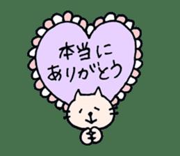 Thankyou sticker by cat sticker #10087434