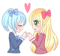 Best couple Rika & Seira sticker #10091643
