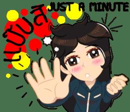Cartoon Isan thailand V.tec Isan/Eng sticker #10095217