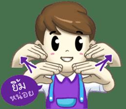 Nong Sign & Finger : Hand for love sticker #10101603