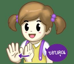 Nong Sign & Finger : Hand for love sticker #10101631