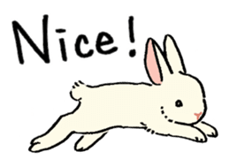 English Bunny 2 sticker #10103560