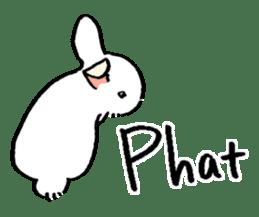 English Bunny 2 sticker #10103562