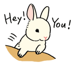 English Bunny 2 sticker #10103568