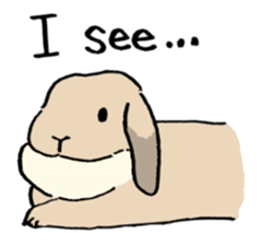 English Bunny 2 sticker #10103572
