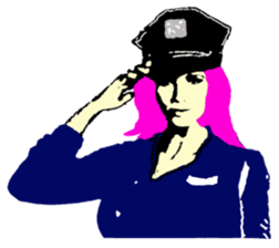 Cool policewoman's sticker #10120672