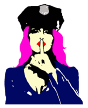 Cool policewoman's sticker #10120682