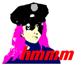 Cool policewoman's sticker #10120685