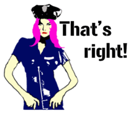 Cool policewoman's sticker #10120701
