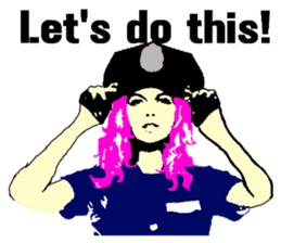 Cool policewoman's sticker #10120708