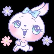 สติ๊กเกอร์ไลน์ Girly Bunny -World Wide-