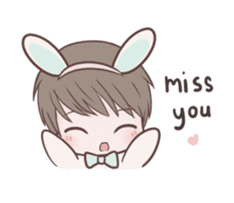 Bunny & Bearby Eng Ver. sticker #10129361