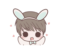 Bunny & Bearby Eng Ver. sticker #10129366