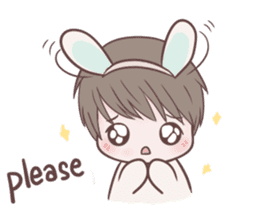 Bunny & Bearby Eng Ver. sticker #10129375