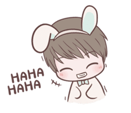 Bunny & Bearby Eng Ver. sticker #10129381