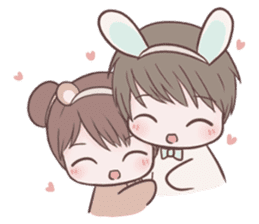 Bunny & Bearby Eng Ver. sticker #10129387