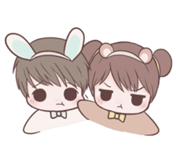 Bunny & Bearby Eng Ver. sticker #10129389