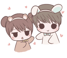 Bunny & Bearby Eng Ver. sticker #10129399