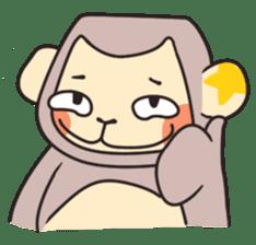 gibbon monkey Aidan sticker #10137721