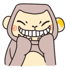 gibbon monkey Aidan sticker #10137722