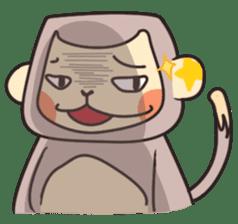 gibbon monkey Aidan sticker #10137723