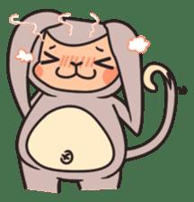 gibbon monkey Aidan sticker #10137724