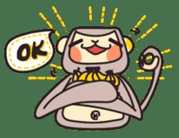 gibbon monkey Aidan sticker #10137729
