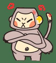 gibbon monkey Aidan sticker #10137733