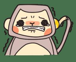 gibbon monkey Aidan sticker #10137734