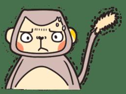gibbon monkey Aidan sticker #10137737